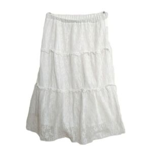 2/$30 👗FANCY White Lace Skirt